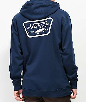 Vans Full Patch Navy & White Fleece Hoodie