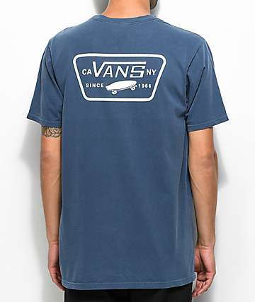 Vans Full Patch Navy & White T-Shirt