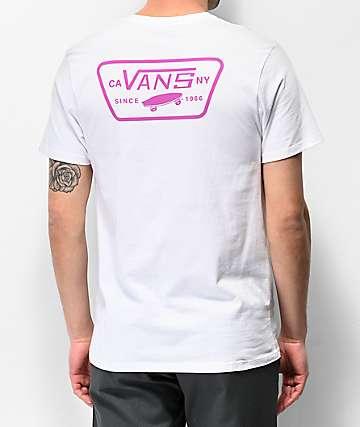 Vans Full Patch White & Rose T-Shirt