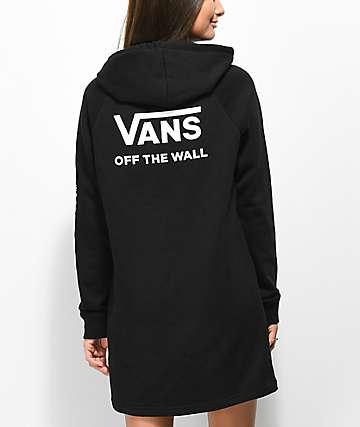 Vans Funday Black Hoodie Dresss