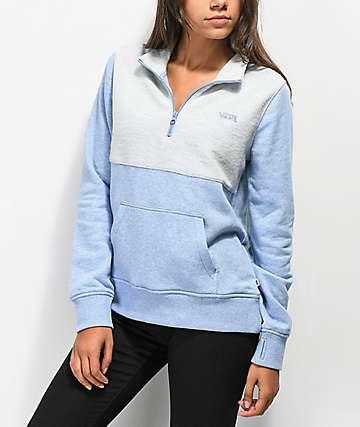 Vans Glacial Half Zip Lavender Sweatshirt