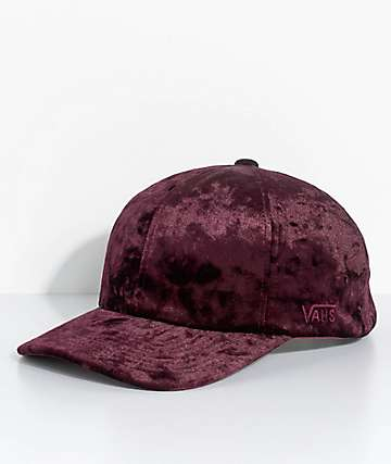Vans Glazier Burgundy Crushed Velvet Baseball Hat