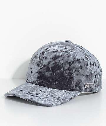 Vans Glazier Grey Crushed Velvet Baseball Hat