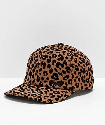 Vans Glazier gorra con estampado de leopardo