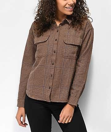 Vans Glen Junction camisa de franela marrón y azul