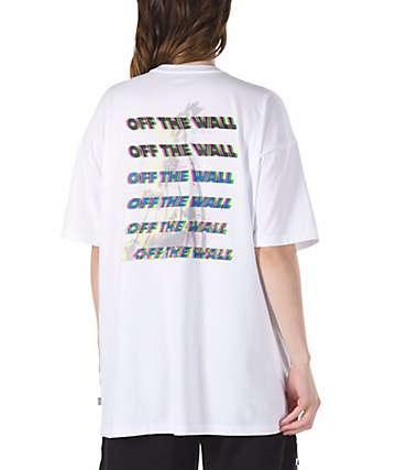 Vans Glitched Out Oversized White T-Shirt