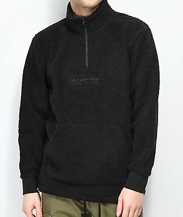 Vans Global Trespassers Half Zip Black Fleece Sweatshirt