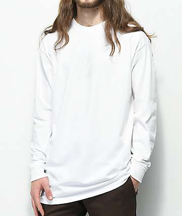 Vans Grand V Matte White Long Sleeve T-Shirt