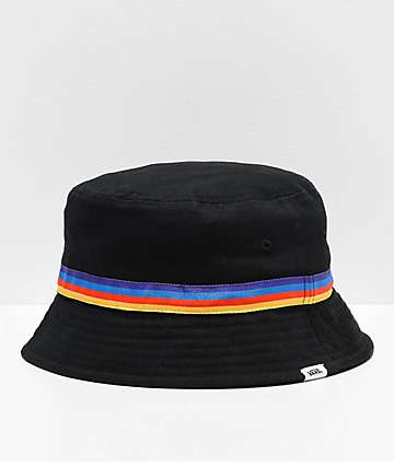 b93a1fe696b Vans Hankley Black   Rainbow Bucket Hat