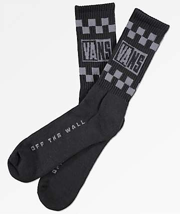 Vans Helmer Black Crew Socks