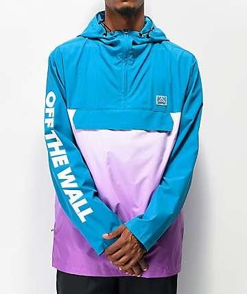 Vans Hi Point Blue & Purple Packable Anorak Jacket