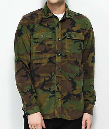 Vans Hillcrest Camo Tech Fleece Shirt