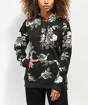 Vans Hush Floral Black Hoodie