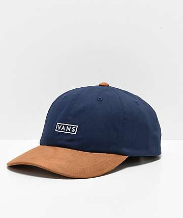 Vans Jockey Blue & Khaki Curved Bill Strapback Hat