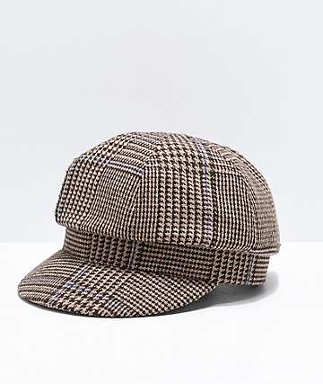 Vans Junction News Boy Brown Hounds Tooth Cap