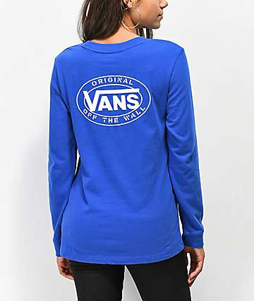 Vans Junction Surf The Web Long Sleeve Boyfriend T-Shirt