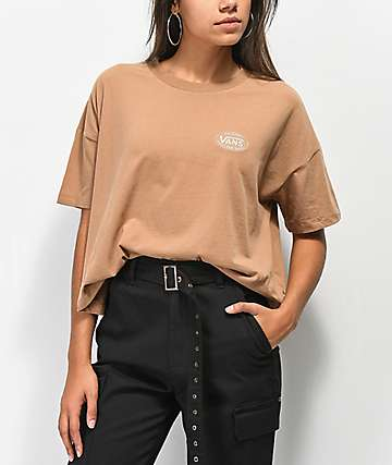 Vans Junction Woodsmoke Crop T-Shirt