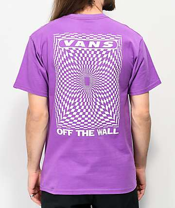 Vans Kaleidoscope Check Purple T-Shirt