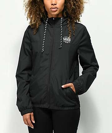 Vans Kastle Black Windbreaker Jacket