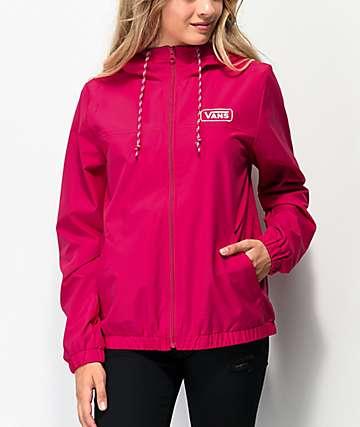 Vans Kastle III Pink Windbreaker Jacket