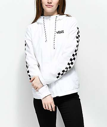 Vans Kastle MTE White Checker Windbreaker Jacket