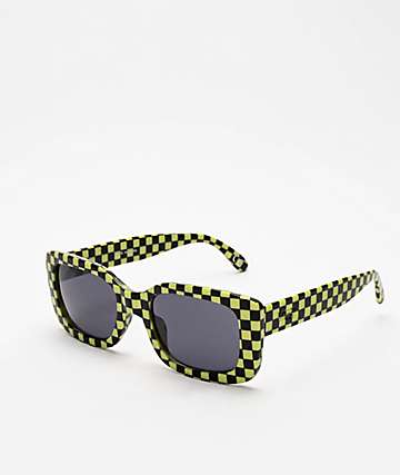 Vans Keech Black & Green Checker Sunglasses