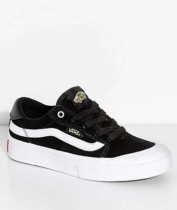 Vans Kids 112 Black, Black & White Shoes