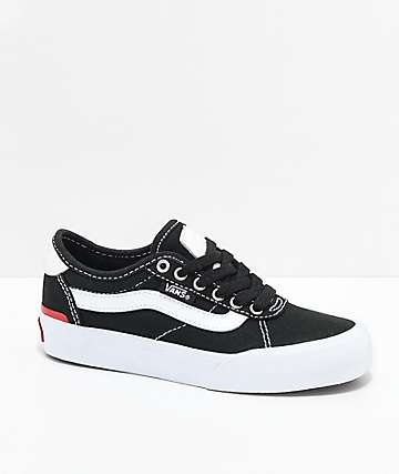 Vans Kids Chima Pro 2 Black & White Skate Shoes
