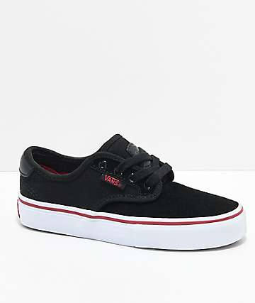 Vans Kids Chima Pro Black, White & Chili Pepper Skate Shoes