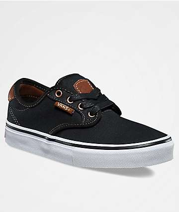 Vans Kids Chima Pro Brushed Black Twill Shoes