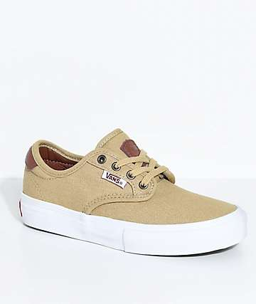 Vans Kids Chima Pro Reptile Khaki Canvas Shoes