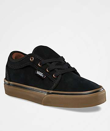 Vans Kids Chukka Low Black & Gum Shoes