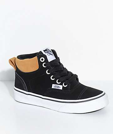 Vans Kids Era Hi Black & Cathay Spice Shoes