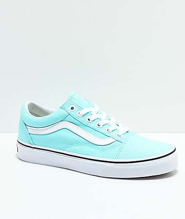Vans Kids Old Skool Island Paradise & White Skate Shoes