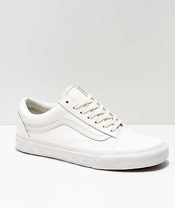 Vans Kids Old Skool Studs Sidewall White Skate Shoes