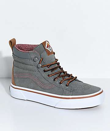 Vans Kids Sk8-Hi MTE Castor Grey Shoes