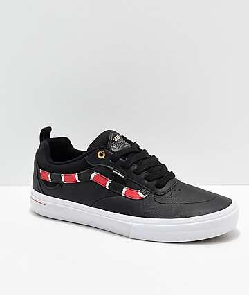 Vans Kyle Walker Pro Coral Snake   Black Leather Skate Shoes a6f19a546