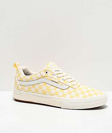 Vans Kyle Walker Pro Pale Banana Checkerboard Skate Shoes