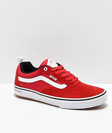 cf39e9b3e4 Vans Kyle Walker Pro Red   White Skate Shoes