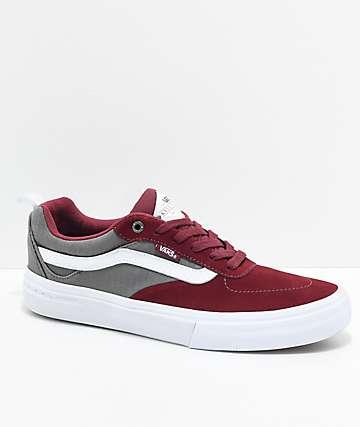 Vans Kyle Walker Pro zapatos de skate en color borgoño y gris