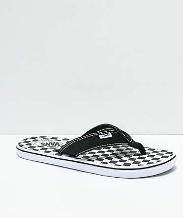 Vans La Costa Checkerboard Black & White Sandals