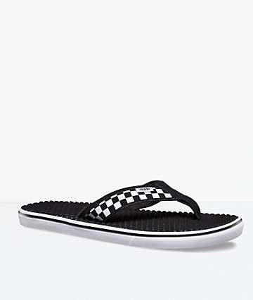 Vans La Costa Lite Checkerboard Black & White Sandals
