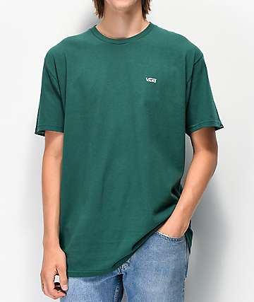 Vans Left Chest Logo Green T-Shirt
