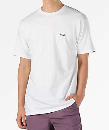 Vans Left Chest Logo White T-Shirt