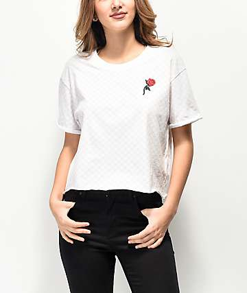 Vans Leila Check White T-Shirt