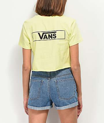 7a2860d94e Vans Lime Stage Crew Crop T-Shirt