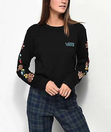 Vans Lizzie Floral Crop Long Sleeve T-Shirt