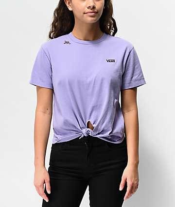 Vans Lizzie Knot Daybreak Purple Boyfriend T-Shirt
