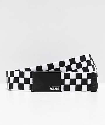 Vans Long Deppster Black & White Checkered Web Belt
