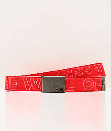 Vans Long Depster Hibiscus Web Belt